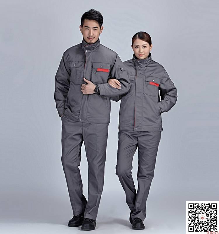 拼色涤棉纱卡工装棉衣 车间工人厂服HY-DJ15