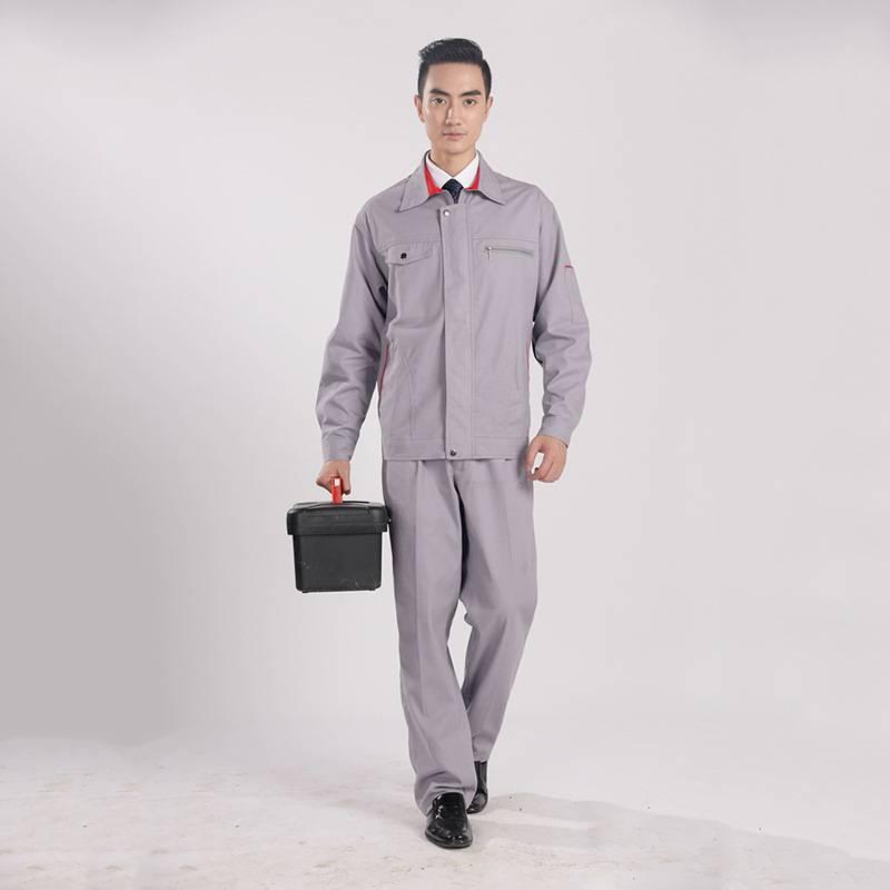 纯棉春秋长袖电焊服套装工作服 劳保服汽修工程建筑工装