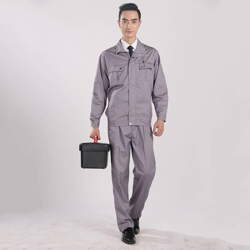 秋季长袖工作服套装汽修服 工程服批发厂家 秋冬工作服批发
