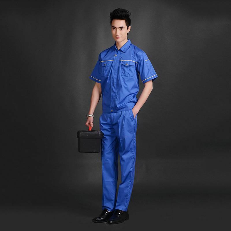 夏季短袖男女同款工作服套装 厂家直销 夏季工作服批发YY001
