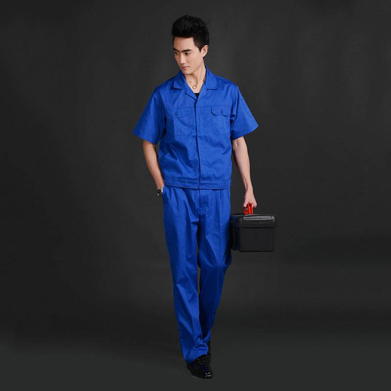 新款夏季短袖工厂工作服 厂家直销 夏季工作服批发YY003