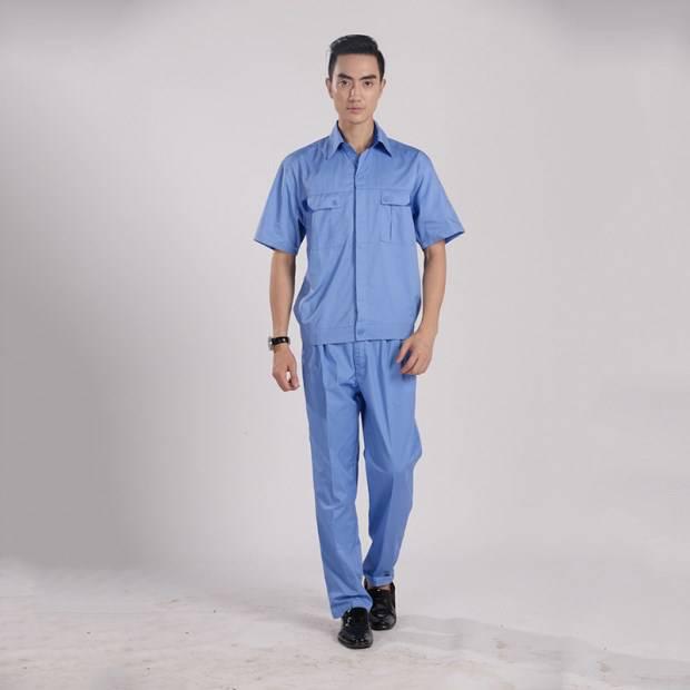 新款劳保服套装短袖工作服 厂家直销 夏季工作服批发YY004