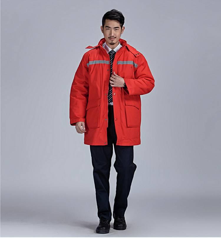 冬季纯棉斜纹棉袄  红色 可印绣字DJ12