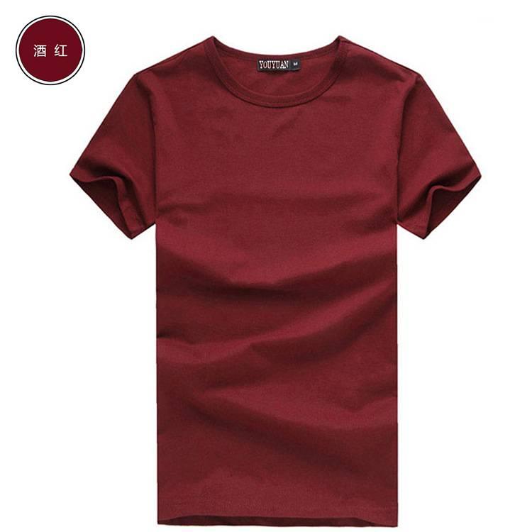 新款全棉纯色夏季男装t恤批发 厂家直销CVC65/35 200