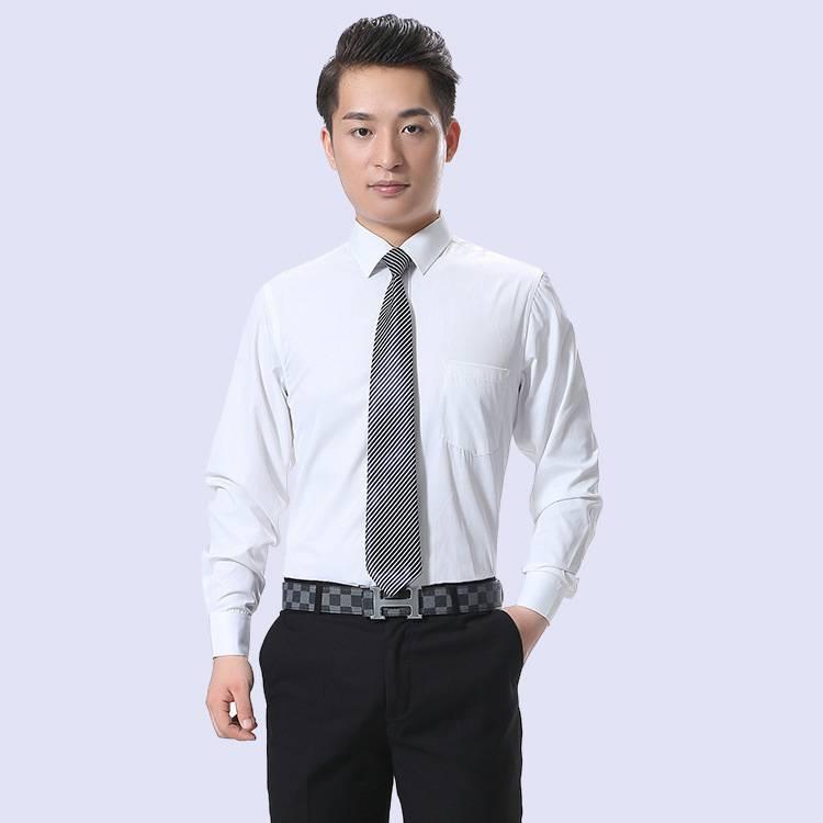 男士衬衫长袖 职业工装衬衫男长袖白衬衣商务男装衬衣批发