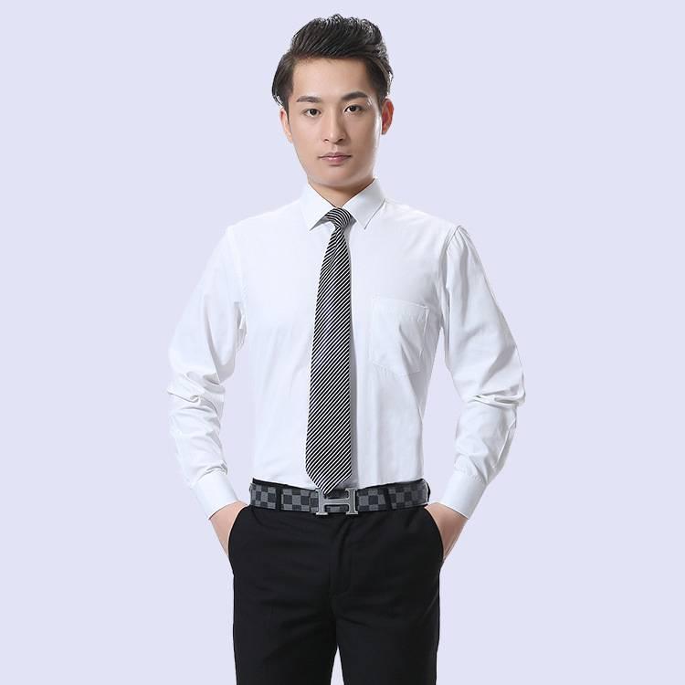 新款春秋季男式衬衫 长袖韩版修身男士衬衫 青年纯色衬衣