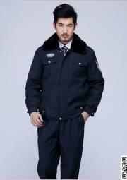 藏蓝加厚保暖防寒保安服 防水防风棉服 冬季工作服定做HY-DJ5