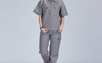 灰色涤棉细帆布工作服定做 HY-XJ08