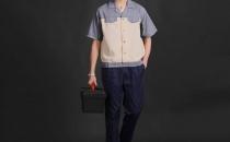 短袖耐磨透气汽修工作服 厂家直销 夏季工作服批发YY009