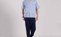 浅蓝色短袖车间工衣工作服 厂家直销 夏季工作服批发YY006