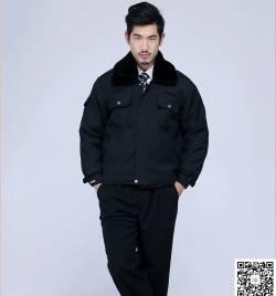 黑色加厚保暖防寒保安服 防水防风棉服 冬季工作服定做HY-DJ4
