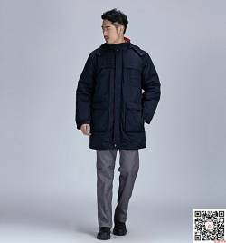 藏蓝斜纹涤卡棉衣 防寒车间劳保服 冬季工作服定做HY-DJ11