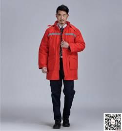 大红纯棉加厚棉衣 防寒车间劳保服 冬季工作服定做HY-DJ12