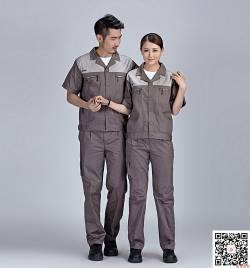 60%棉深灰工服定做 夏季长短袖工作服套装定做 HY-XJ05