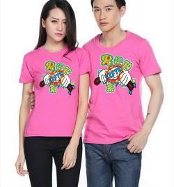 莱卡棉圆领广告衫定做 夏季T恤工作服定做 厂家直销 HY-T4