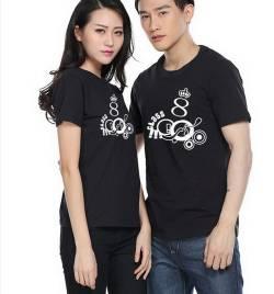 莱卡棉圆领广告衫定做 夏季T恤工作服定做 厂家直销 HY-T7