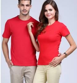 精梭纯棉圆领广告衫定做 夏季T恤工作服定做 厂家直销 HY-T8