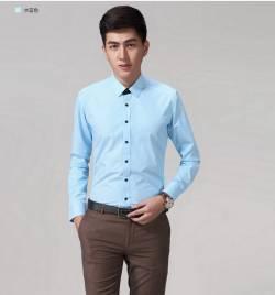长袖男士免烫条纹衬衣 HY-CY3