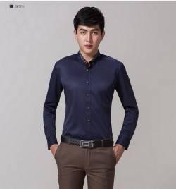 办公室长袖藏蓝衬衣 HY-CY5